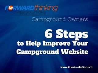 6 Steps to Help Improve Your Campground Website