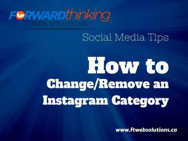How to change or remove an instagram category